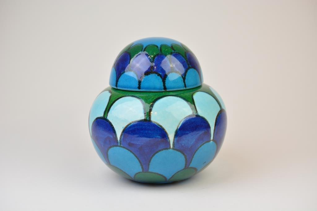 Bellini Mid-Century Italian Pottery Covered Jar