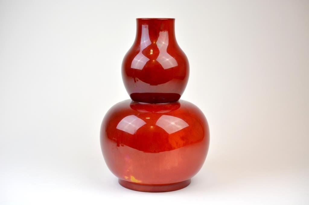 Bernard Moore Flambe Glaze Double Gourd Vase