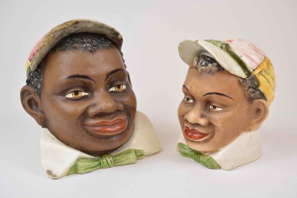 Two Black American Tobacco Humidors