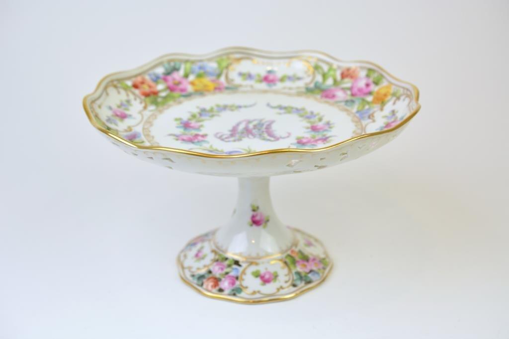 Dresden Marie Antoinette Porcelain Comport