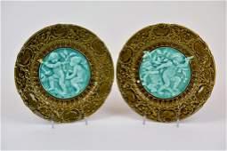 Pair of Villeroy  Boch Majolica Plates