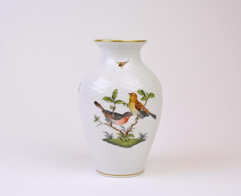 Herend Rothschild Pattern Porcelain Vase