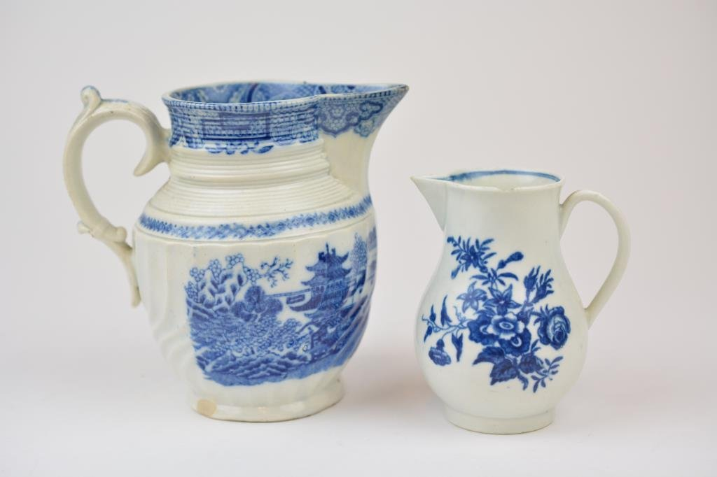 Two 18th century English Porcelain Jugs