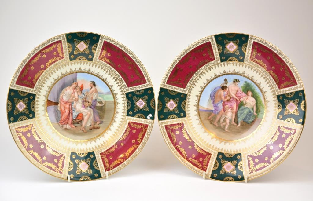 Pair of Decor Carlsbad Porcelain Chargers