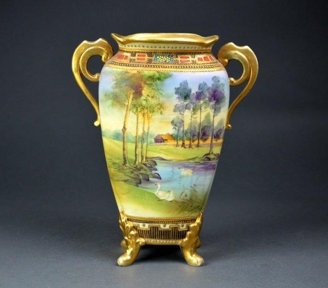 Nippon hand painted vase