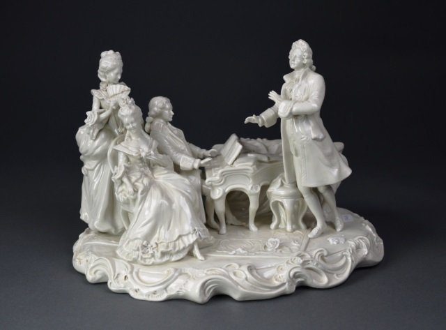 Naples Blanc de Chine figural group