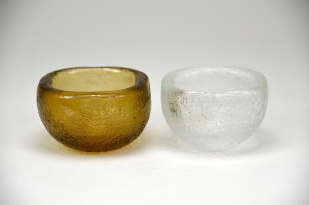 Two Venini Scarpa Glass Dishes