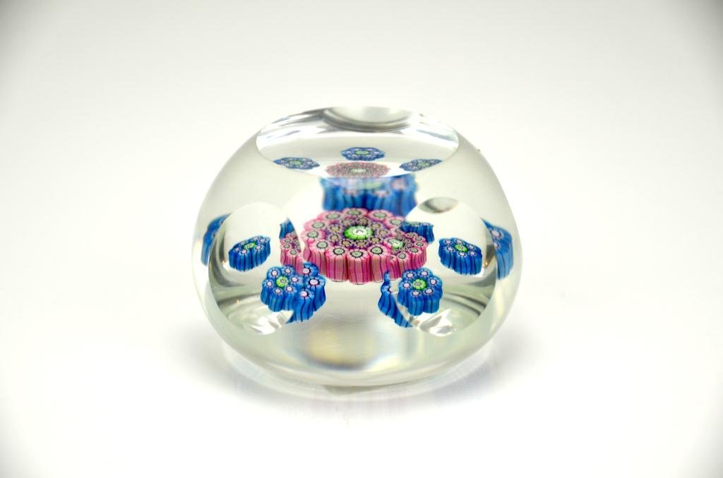 French Faceted Glass Paperweight