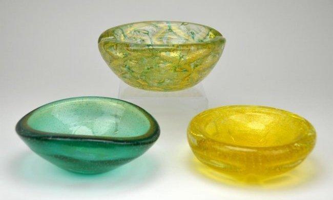 Three Murano Glass Dishes