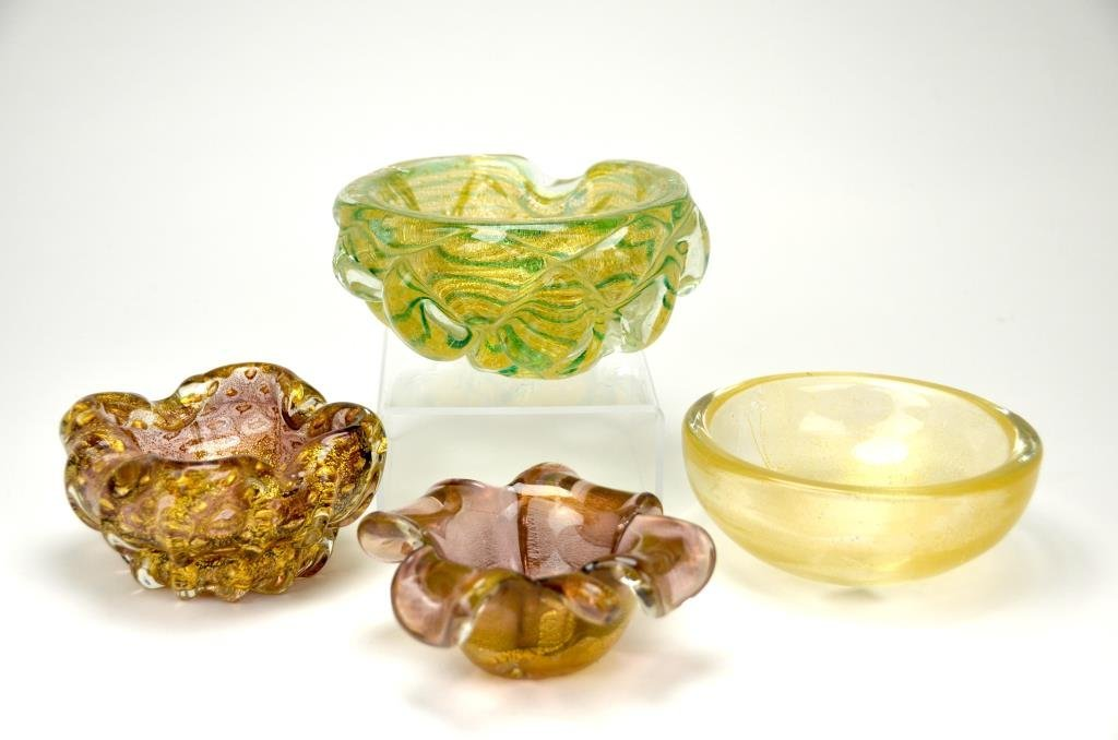 Four Murano Glass Dishes