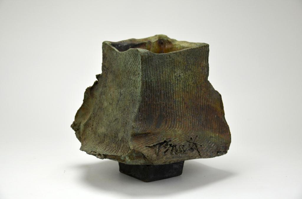 Louise Doucet Saito Canadian Studio Raku Vase
