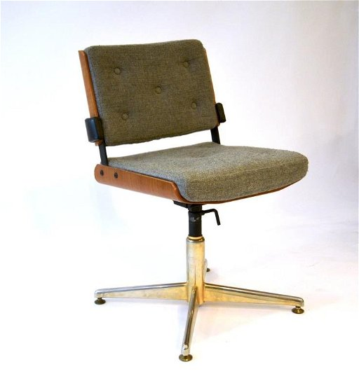 Enjoyable Alain Richard Mid Century Swivel Office Chair Pabps2019 Chair Design Images Pabps2019Com