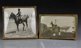 PHOTOGRAPH OF CZAR NICHOLAS II ON HORSEBACK
