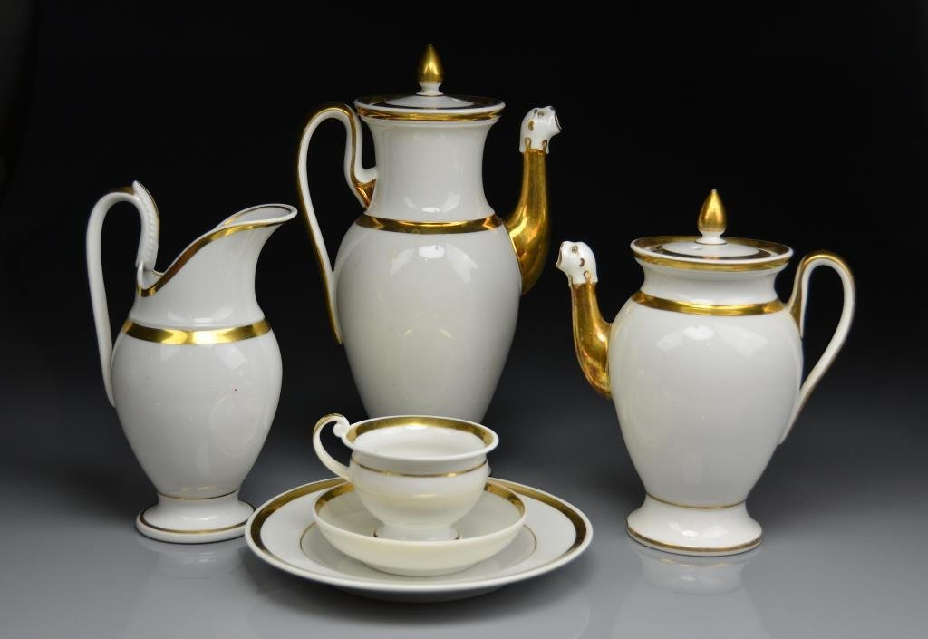 FRENCH EMPIRE PORCELAIN COFFEE SERVICE