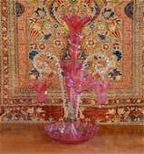 VICTORIAN CRANBERRY GLASS EPERGNE
