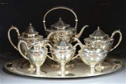 LARGE AMERICAN STERLING SILVER TEA SERVICE