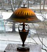 AMERICAN PAIRPOINT ARTS & CRAFTS TABLE LAMP