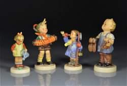 FOUR HUMMEL PORCELAIN FIGURINES