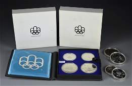 THREE 1976 CANADIAN OLYMPIC SILVER COIN PROOF SETS