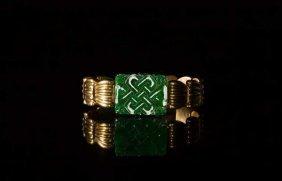 Yellow Gold & Jadeite Bracelet