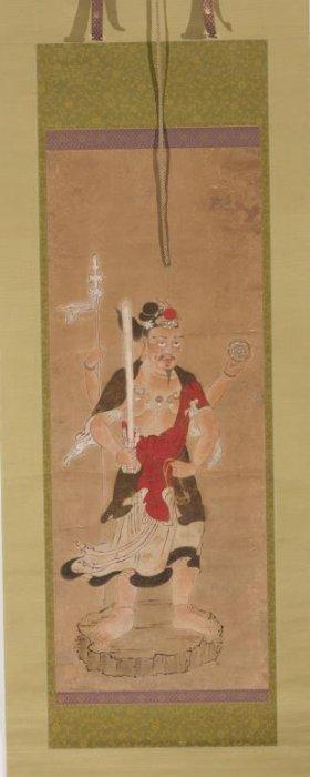 Japanese Immortal Figure Scroll Painting