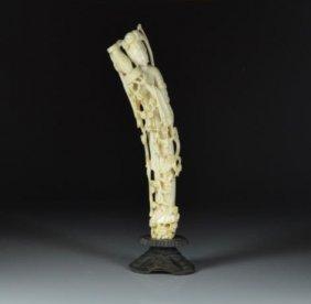 Chinese Carved Ivory Meiren Goddess