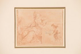 18th C Pencil On Paper Drawing
