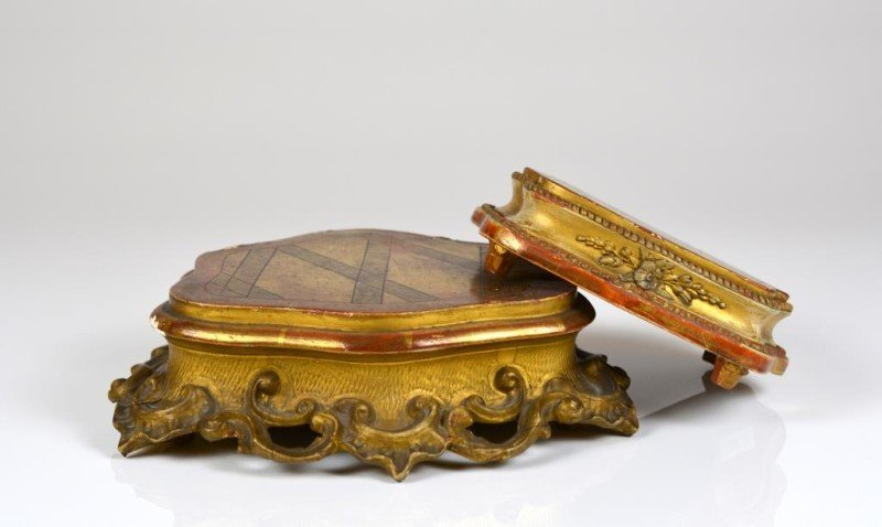 TWO GILT WOOD & GESSO STANDS - 2