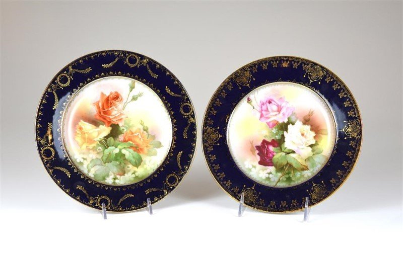TWO ROYAL VIENNA PORCELAIN CABINET PLATES