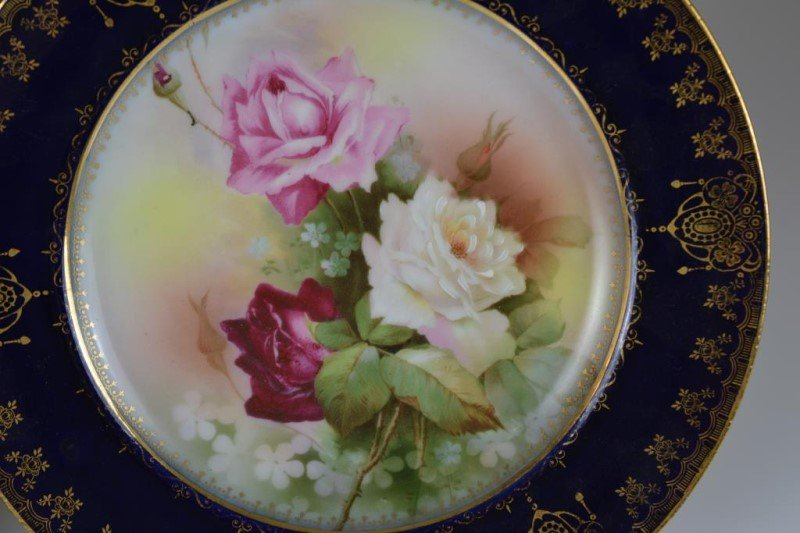 TWO ROYAL VIENNA PORCELAIN CABINET PLATES - 2