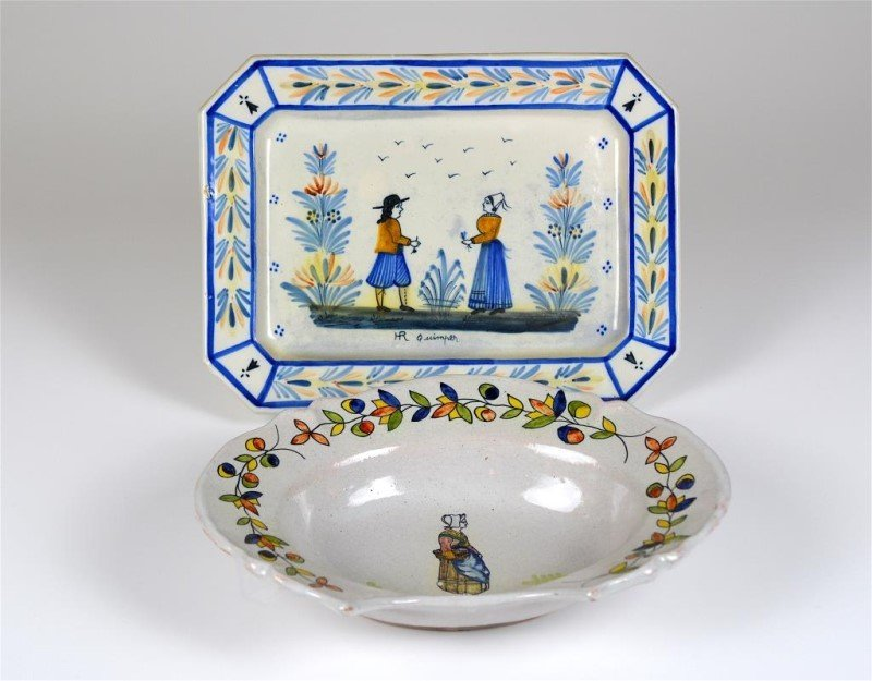FRENCH FAIENCE BARBERS BOWL