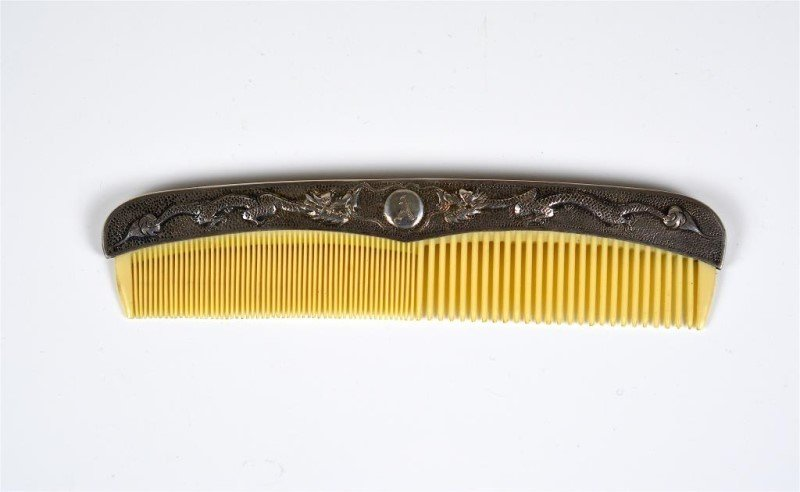 CHINESE EXPORT SILVER COMB