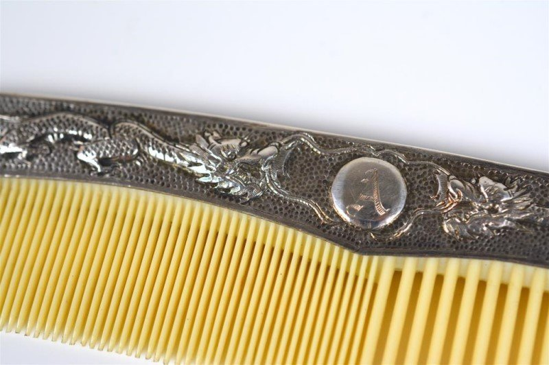 CHINESE EXPORT SILVER COMB - 2