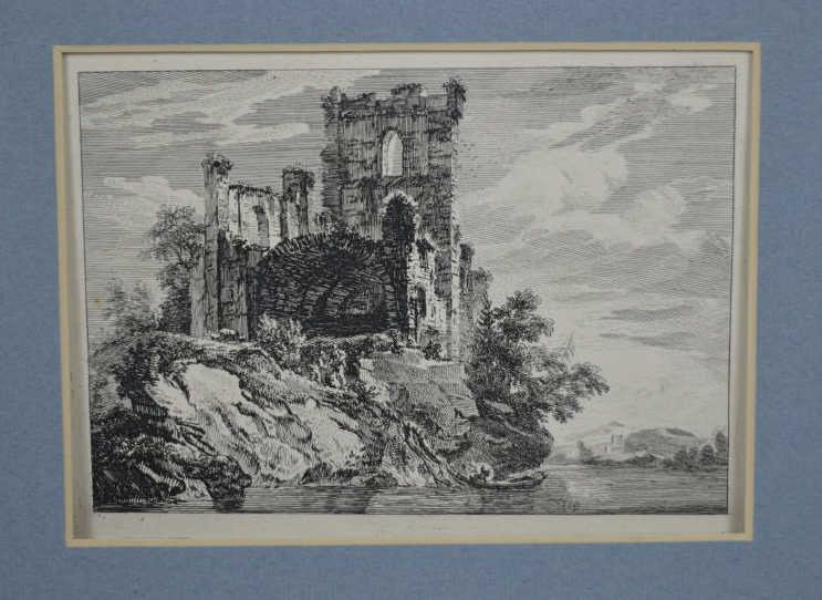 FOUR ETCHINGS: PAUL SANDBY AND FRANK SHORT - 3