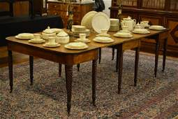 LATE GEORGIAN D-END DINING TABLE