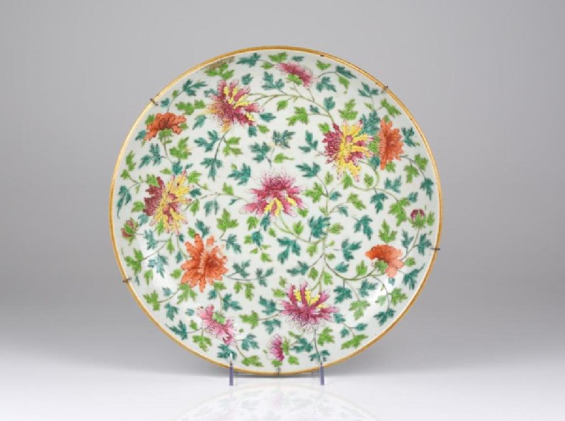 LARGE CHINESE FAMILLE ROSE CHARGER