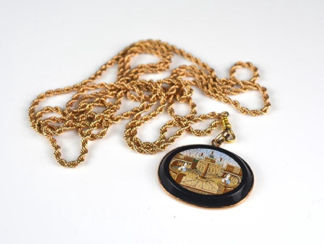 MICROMOSAIC AND GOLD NECKLACE