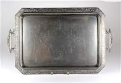 AMERICAN AESTHETIC MOVEMENT SILVER PLATE TRAY