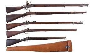 Five Antique Long Guns