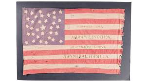 Two American Flags, Lincoln Presidential Campaign