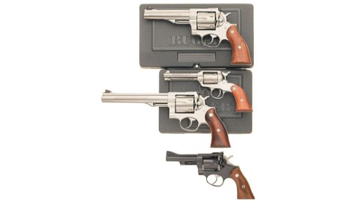 Four Ruger Revolvers