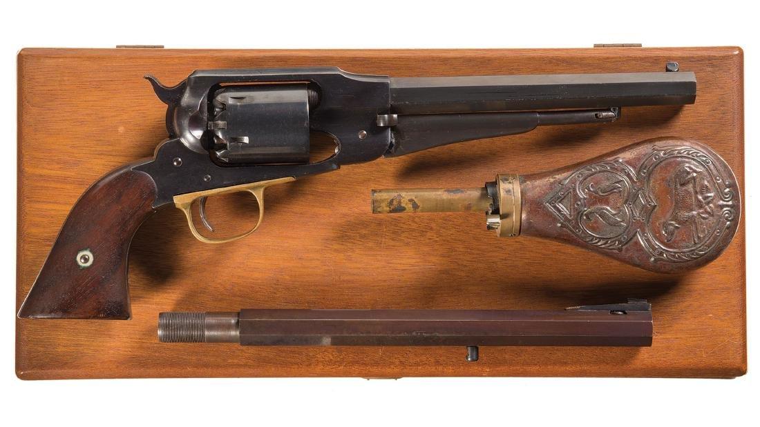 Cased U.S. Remington New Model Army Percussion Revolver