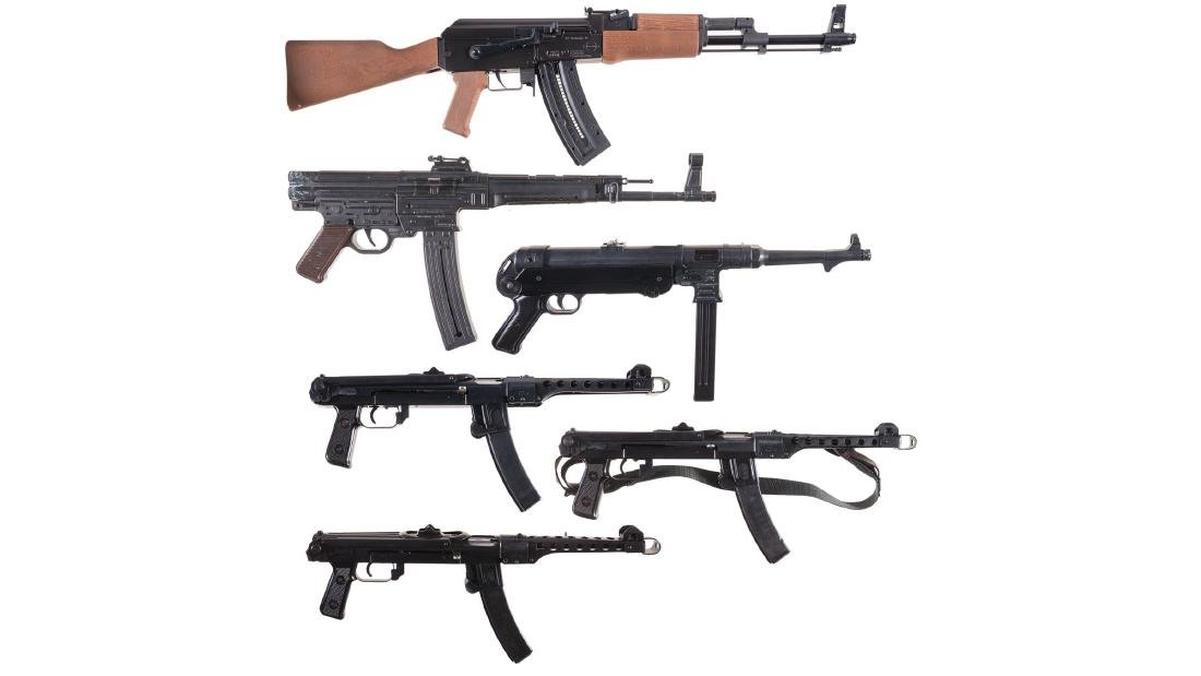Six Semi-Automatic Firearms