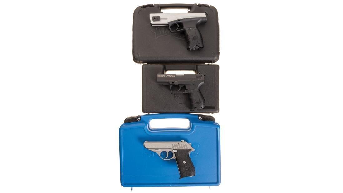 Three German Semi-Automatic Pistols with Cases