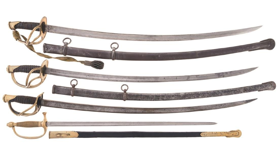 Four American Military Swords