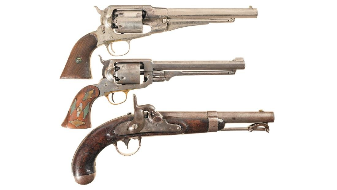Three Antique American Percussion Handguns
