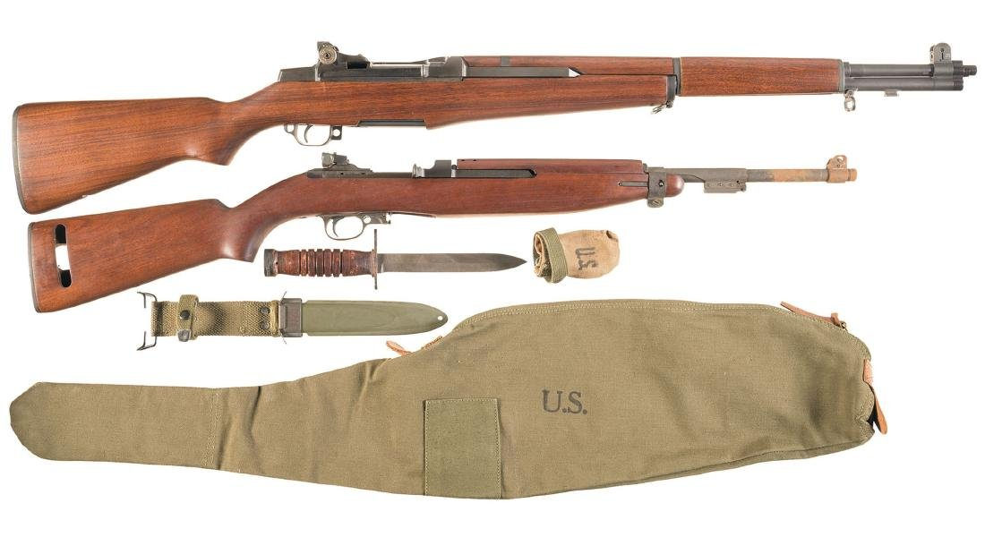 Two World War II U.S. Military Semi-Automatic Longarms
