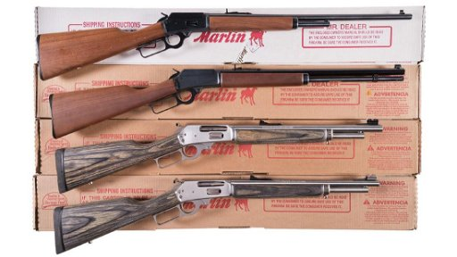 Four Boxed Marlin Lever Action Long Guns