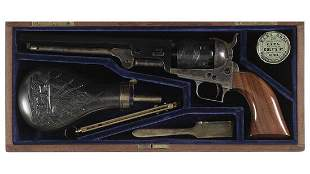 Cased Colt Black Powder Series Model 1851 Navy Revolver
