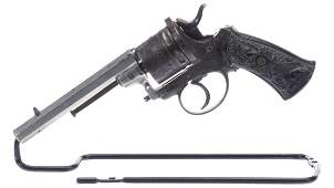 Engraved German Double Action Revolver